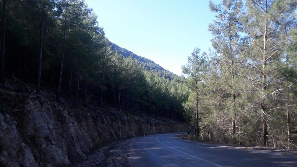 The mountain road into Fethiye