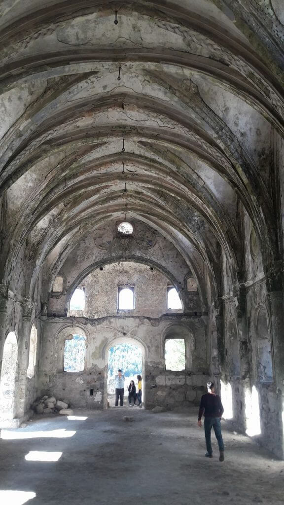 Inside the Old Church in Kayakoy