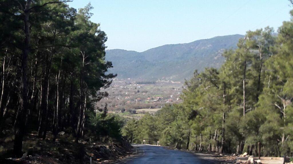 Approaching Kayakoy from Hisaronu Ovacik