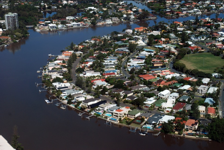 Houses on Canals on the Gold Coast