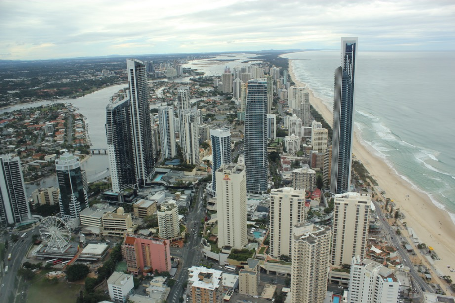 Surfers Paradise from the top of the Skypoint Observation deck