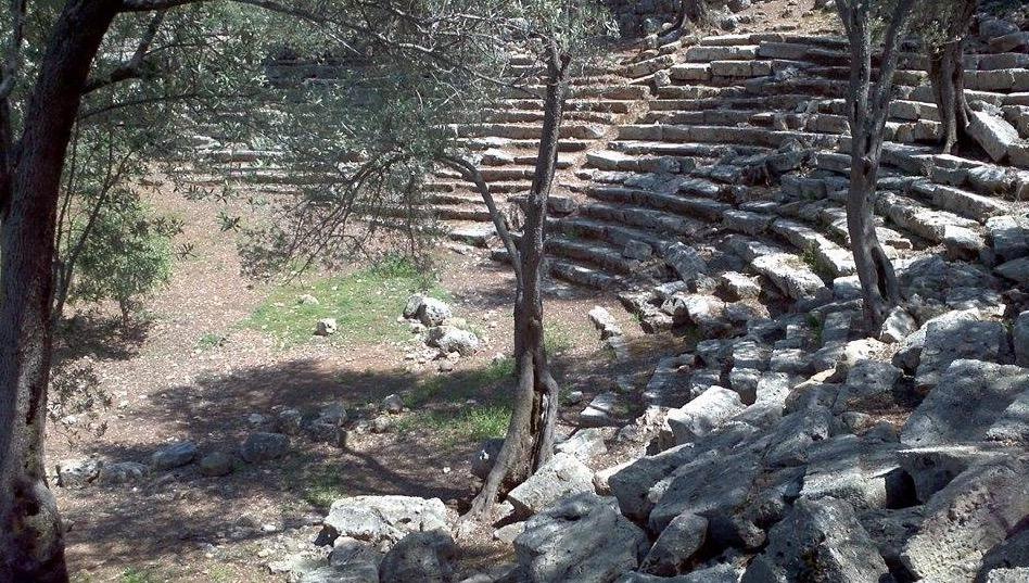 sedir island ancient theater ruins