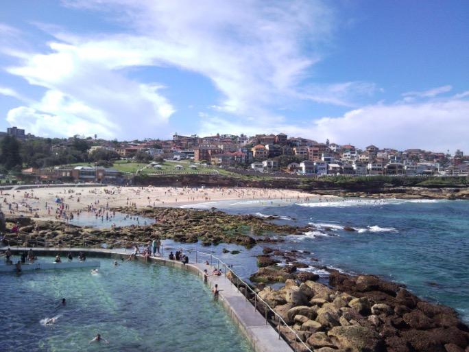 sydney bronte in summer swimming surfing