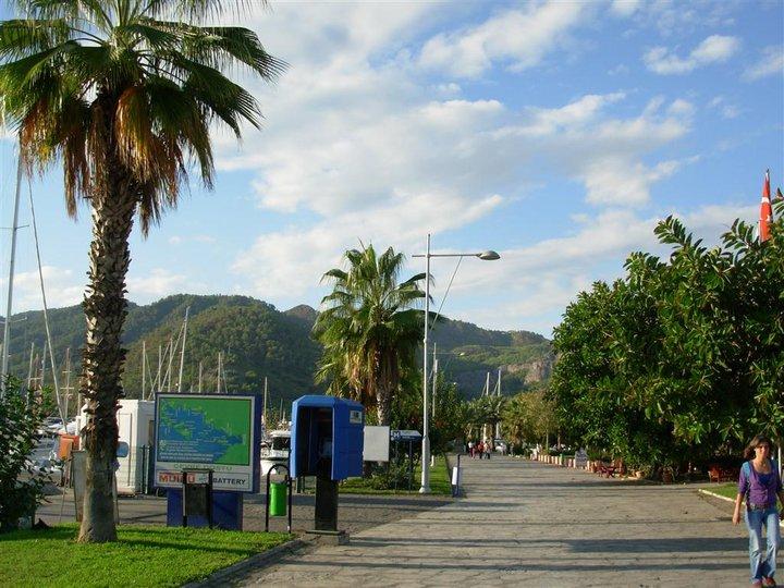 gocek turkey promenade sunny day