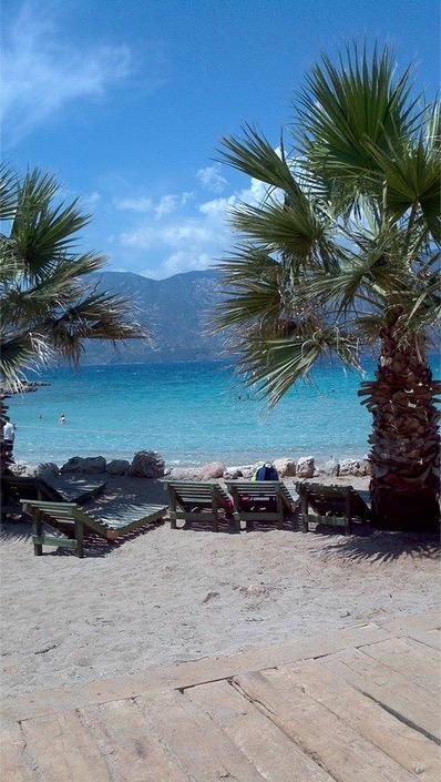sedir island white sand beach cleopatra