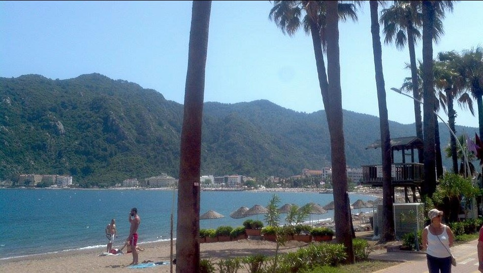 marmaris icmeler beautiful day on beach