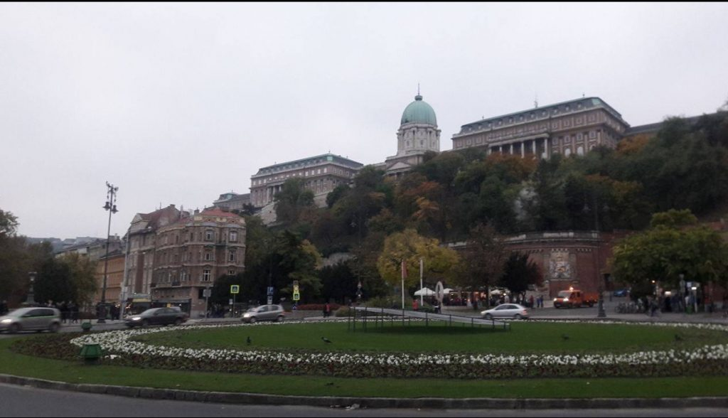 buda castle on buda side danube riverside