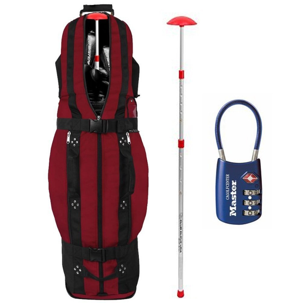 Club Glove Last Bag Collegiate Golf Travel Cover, red