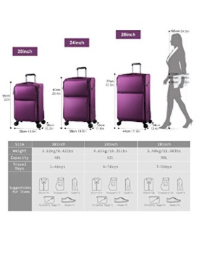 Windtook three-piece luggage set