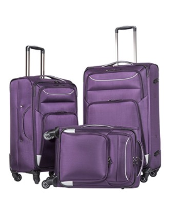 Coolife Suitcases 3 Piece Luggage 20 24 28 inch