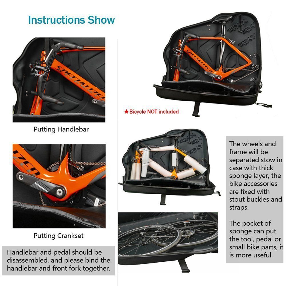 EVA Bike Travel Case for Mountain Road Bicycle