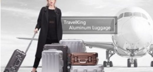 TravelKing All Aluminum HardShell Suitcase