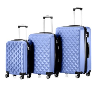 Timmari Hard Lightweight Expandable ABS Luggage Set