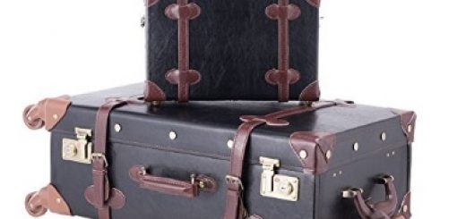 CO-Z Premium Vintage Luggage Sets 24 Trolley Suitcase and 12 Hand Bag Set