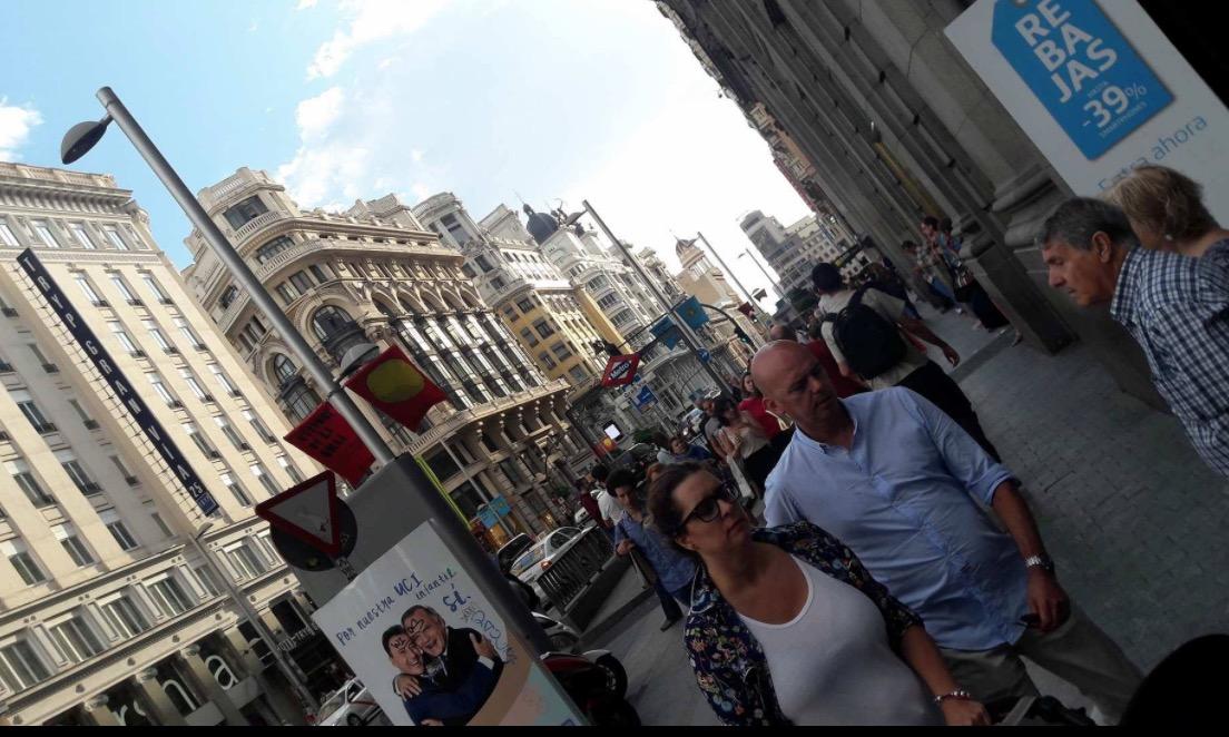 madrid gran via street avenue people walking