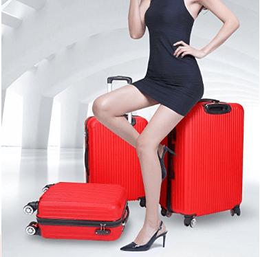 setory hard shell spinner suitcase