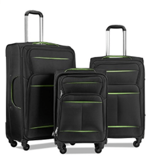 Lemoone Super Durable Luggage Set II 3 Piece Soft-shell Set Spinner Suitcase Set