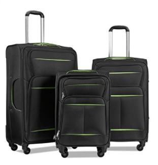 Lemoone Super Durable Luggage Set II 3 Piece Soft-shell Set Spinner Suitcase Set