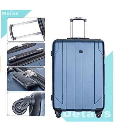 merax 3 pieces p.e.t suitcases