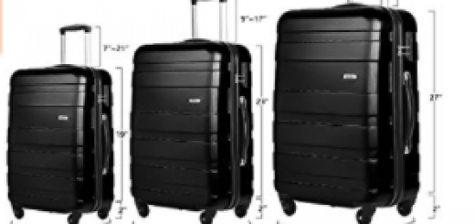 Merax Aphro 3 Piece Luggage Set Lightweight ABS Spinner Suitcase