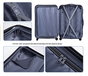 Merax Aphro 3 Piece Luggage Set