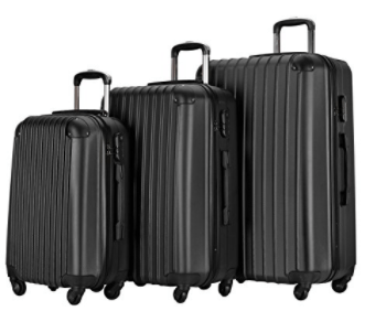Resena Luggage 3 Piece Set Suitcase Spinner Hardshell