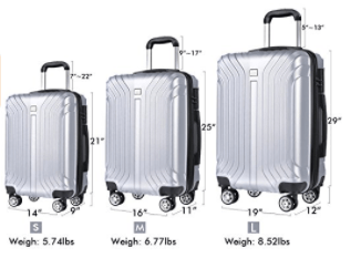 Coofit spinner hardshell suitcases 3 pieces
