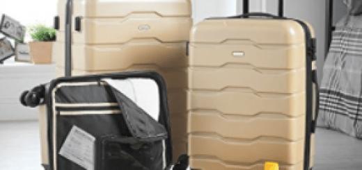 VonHaus Premium 3 Piece Lightweight Luggage Set