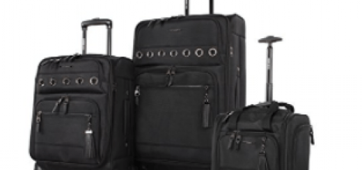Steve Madden Luggage 3 Piece Softside Spinner Suitcase