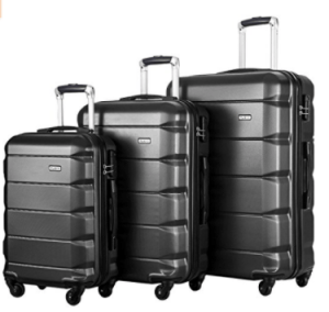 Flieks 3 Piece Luggage Set Spinner Suitcase