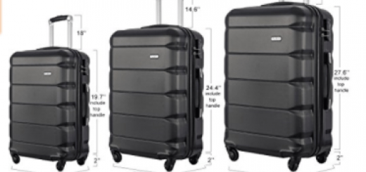Flieks Luggages 3 Piece Luggage Set Spinner Suitcase
