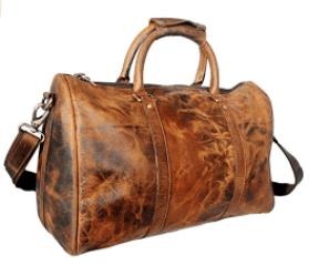 RusticTown 20 inch Leather Travel Duffel Bag