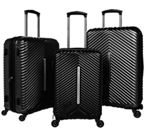 Cheergo PC 3 Piece Hardside Suitcase Luggage Set