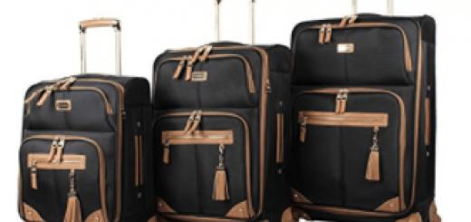 Steve Madden Luggage 3 Piece Softside Spinner