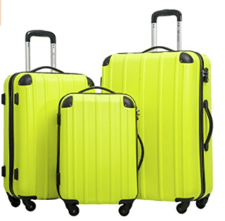 Merax Travelhouse Mixed Color 3 Piece Spinner Luggage Set