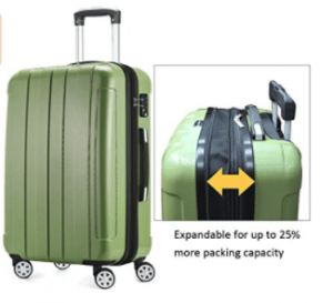 09576d40231a Fochier Luggage 3-Piece Expandable Spinner Set, FC1701-1 Review ...