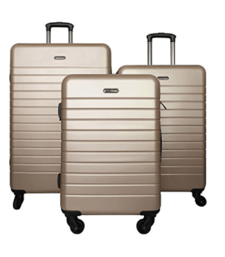 HyBrid Travel 3 Piece Hard Shell Spinner Luggage Set Review