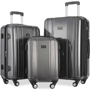 Merax Luggage 3 Piece Sets ABS+PC Expandable Luggage Set with TSA Lock