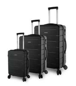 TravelCross Vermont 3-Piece Ultra-Resistant Lightweight Spinner Luggage Set