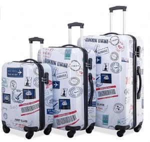 Merax Graphic Print Luggage Set 3 Piece