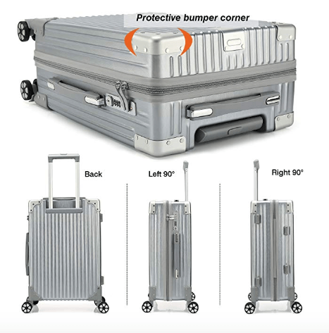 Kroeus ABS PC Rolling Luggage Suitcase Spinner