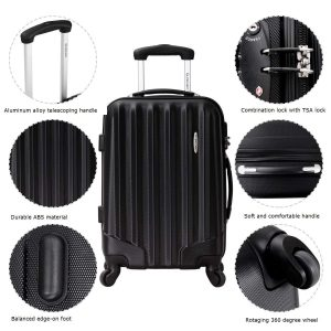 BestComfort Lightweight 3 Piece Luggage Set