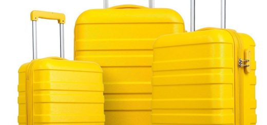 welove yellow luggage set 3 pieces