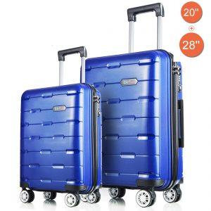 BiBOSS Luggage 2 Piece Set Lightweight Hardside