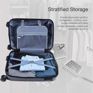 Murtisol 3 Pieces ABS Hardside Spinner Suitcase Set