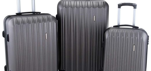 Murtisol 3 Pieces ABS Luggage Sets Hardside Spinner
