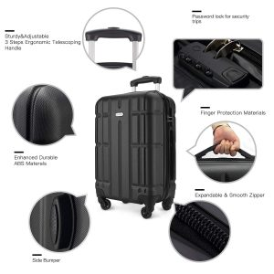 SHOWKOO Expandable Spinner Luggage Set