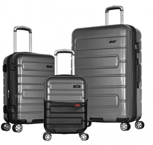 Olympia Nema 3-Piece Exp. Hardcase Spinner Luggage Set