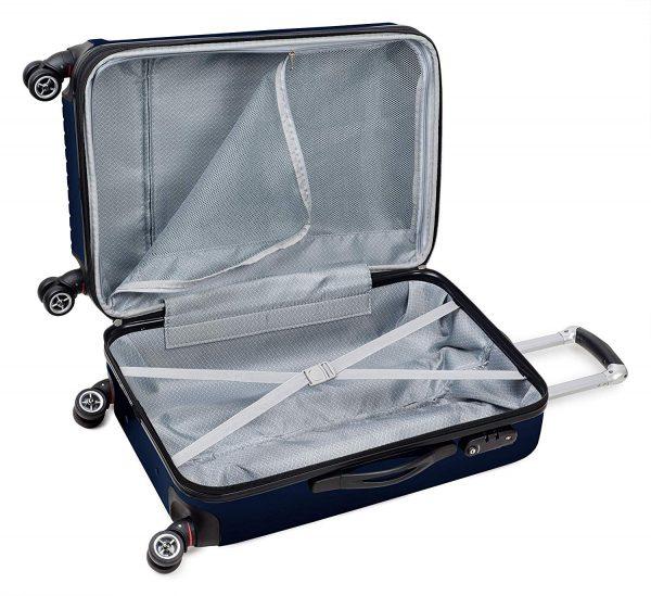 TravelCross Berkeley Classic Luggage Lightweight Spinner Set Dark Blue, 20+28