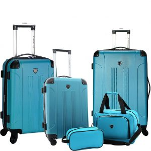 Travelers Club Luggage Chicago Plus 5 Piece Luggage Set